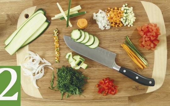 Aprenda as técnicas de corte para preparar corretamente os alimentos